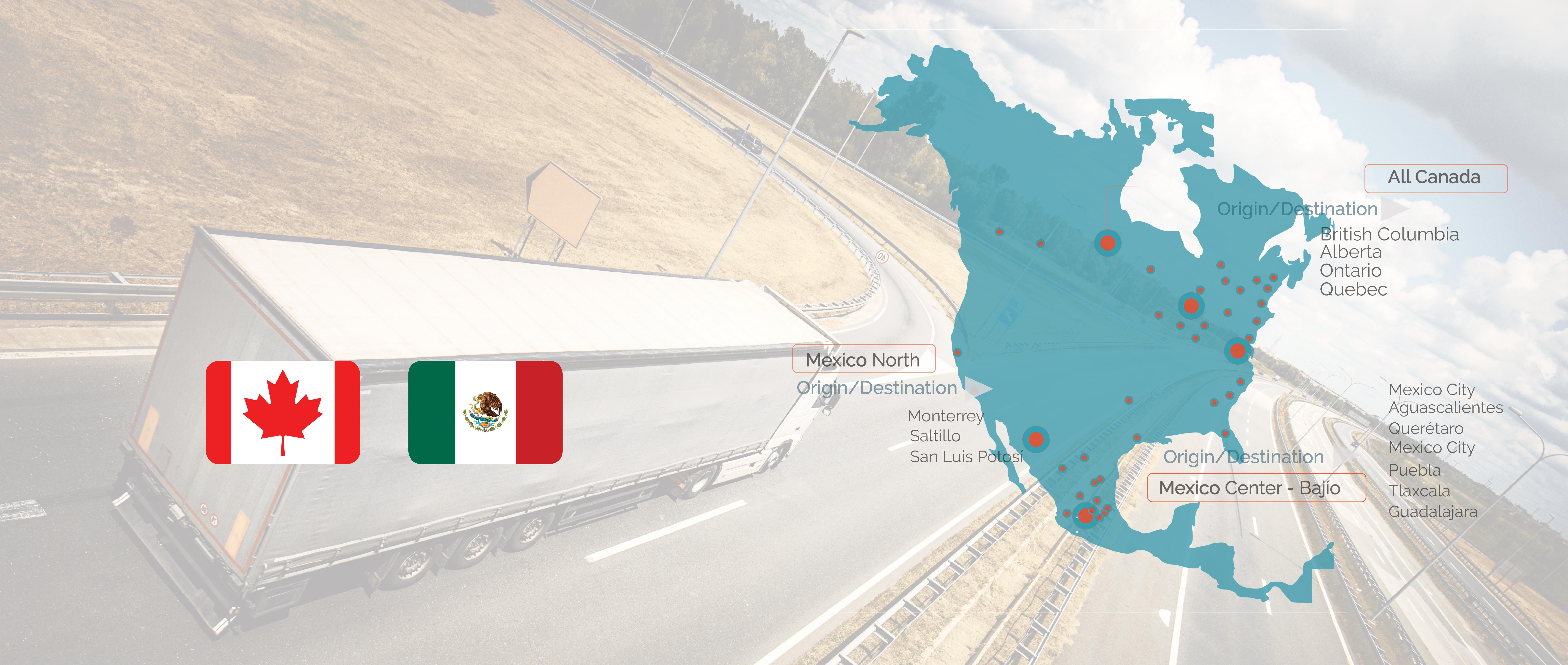 Freight shipping Canada-Mexico