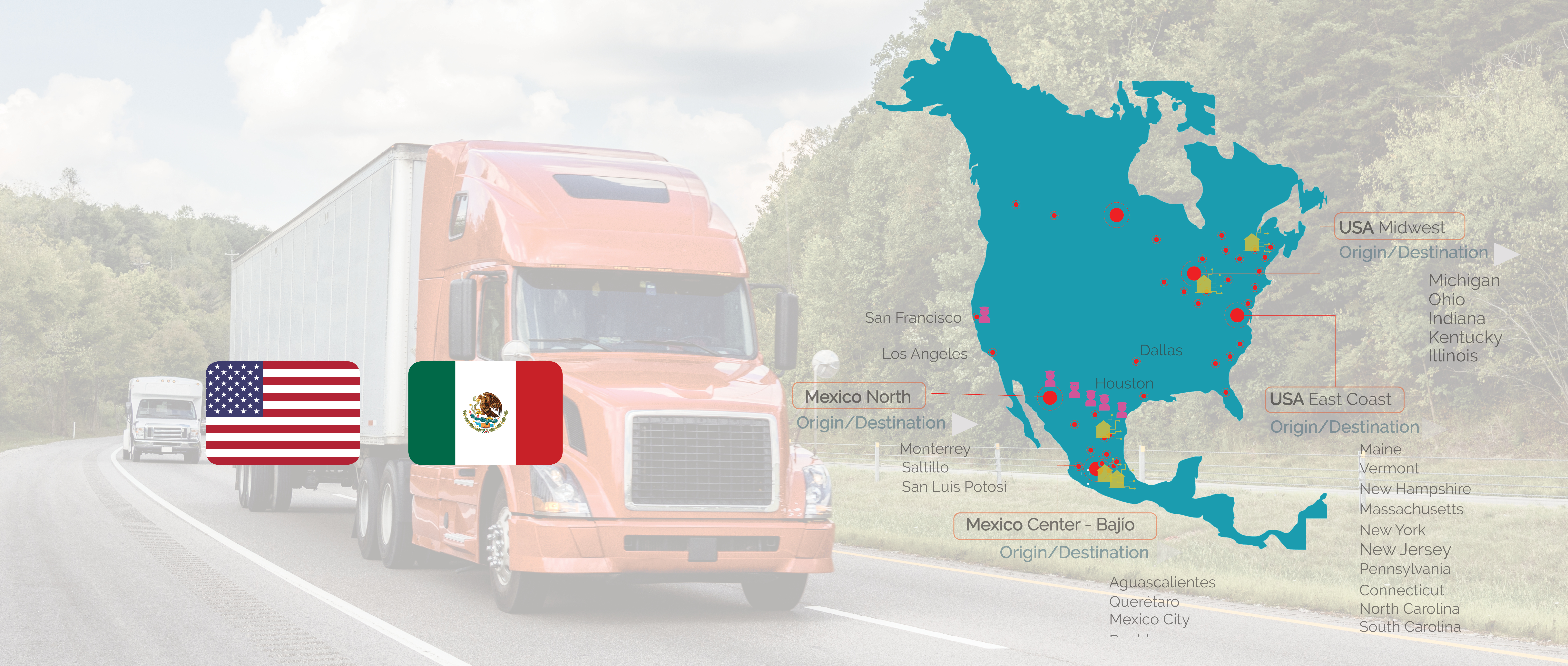 Freight shipping USA-Mexico